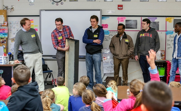 Engineering students solve elementary school sound problem through service-learning project